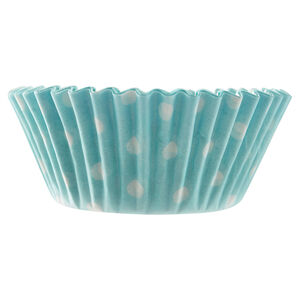 Mason Cash 40 Blue Polka Dot Cupcake Cases