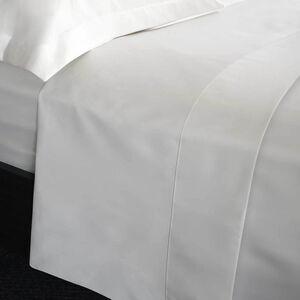 SINGLE FLAT SHEET 200 Threadcount Cotton White