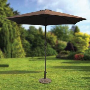 2.7m Crank Sun Parasol Brown