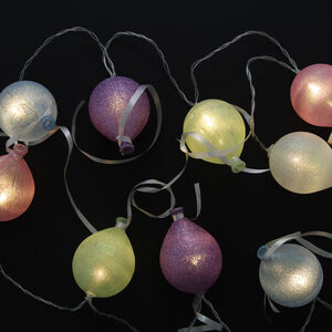 10 LED Glitter Balloon String Light