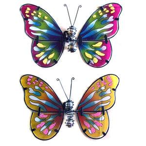 Glass Butterflies Garden Wall Art