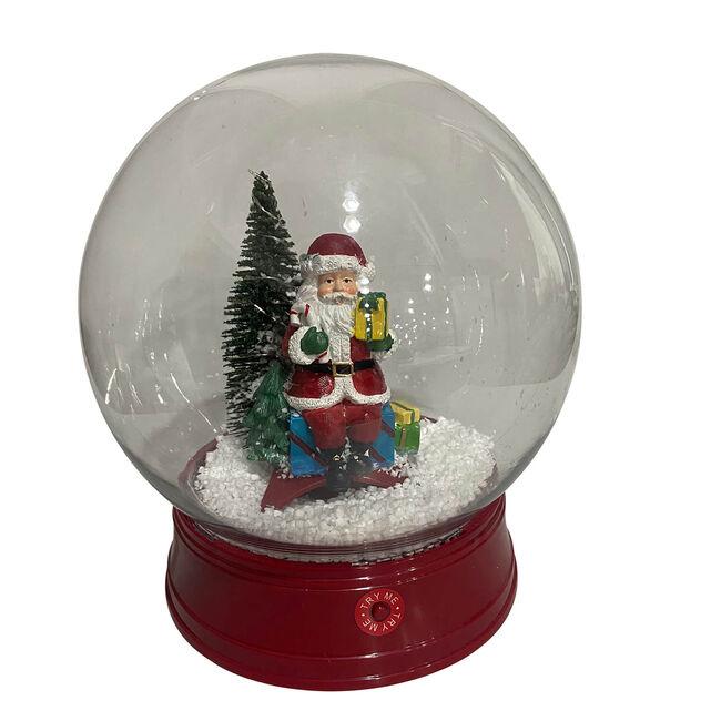 Snowing Lantern Globe Santa Scene