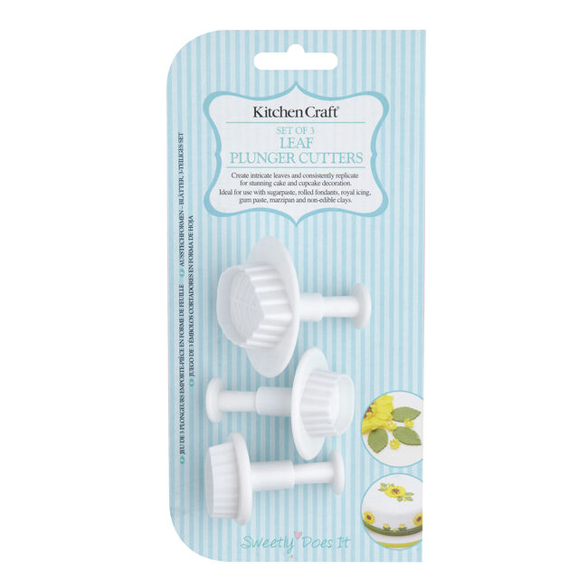 Sweetly Does It 3Pc Leaf Plunger Cutters