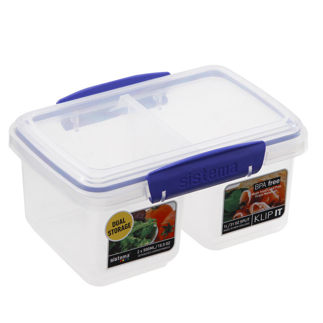 Klip It Airtight Split Container 1L