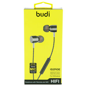Budi Grey High Definition Earphone with microphone