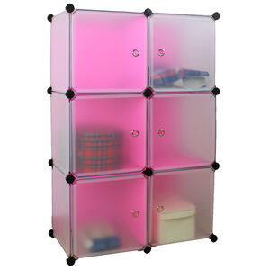 Modular 6 Cubes Storage Unit with Door