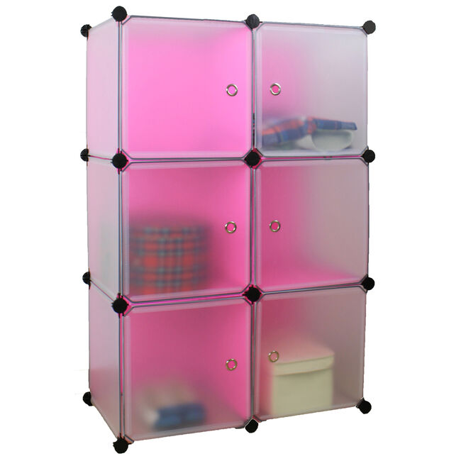 Modular 6 Cubes Storage Unit with Door