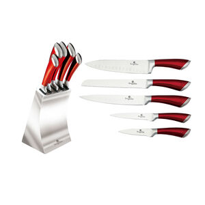 Berlinger Haus Burgundy 6 Piece Block Knife Set
