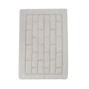 Cotton Brick Bath Mat Cream