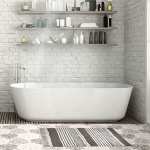 Ruffle Bath Mat 50x80cm- Grey