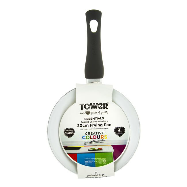 Tower Ceramic Black Frying Pan 20cm