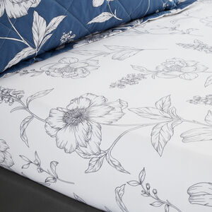 CAROLINE BLUE Single Fitted Sheet