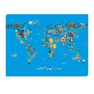 World Map Children 80cm x 60cm