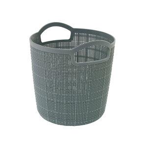 Hessian Blue Round Storage Basket 2.5L