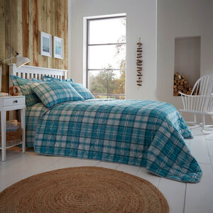 Brushed Cotton Hooper Check Bedspread 200x220cm