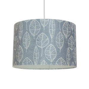 Printed Leaf Ceiling Shade