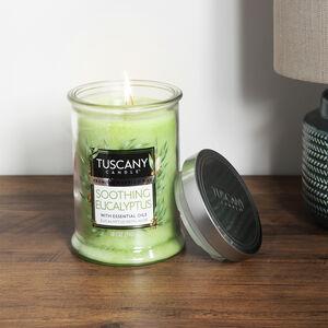 Tuscany Double Wick Candle Soothing Eucalyptus