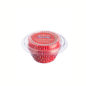Mason Cash Polka Red Cake Case 75Pk