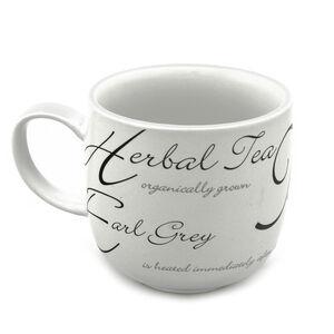 Script Black and White Hug Mug