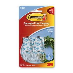 Command Strip Clear Medium Plastic Hooks