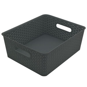 Geometric 14.5L Grey Basket