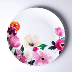 Atelier 75 Orange Flower Dinner Plate