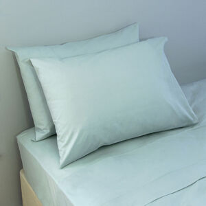 200TC Cotton Housewife Pillowcase Pair - Duck Egg