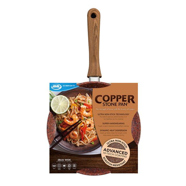 JML Copper Stone Wok 28cm