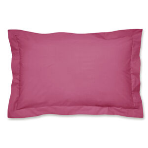 Luxury Percale Oxford Pillowcase Pair - Hot Pink