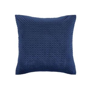 Velour Stitch Blue 45x45 Cushion