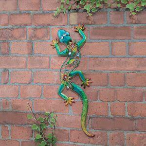 Deluxe Jewel Gecko Garden Wall Art