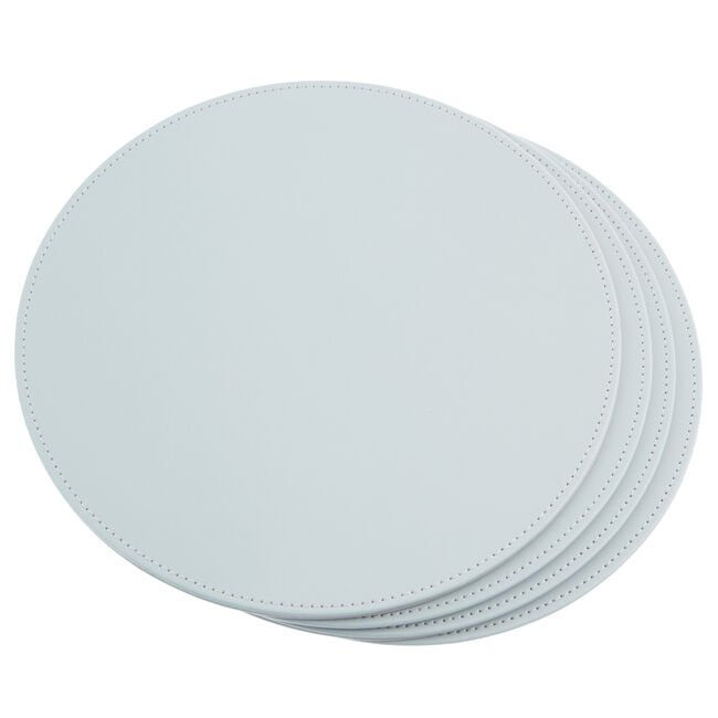 Reversible Round Placemats - Duck Egg & Grey