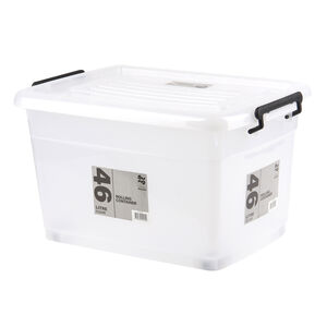 Rolling Storage Box 46L - Clear