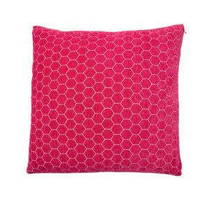 Honeycomb Cushion 45x45cm - Pink