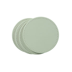 Reversible Round Coasters 4 Pack - Green & Cream