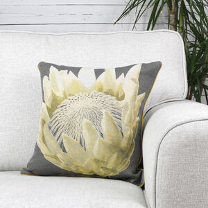 Alexa Flower Grey Cushion 45cm x 45cm