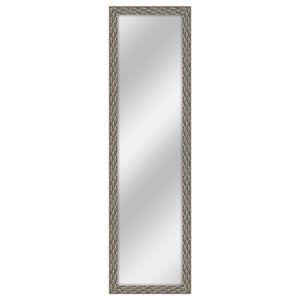 Over The Door Silver Feather Mirror 30cm x 120cm