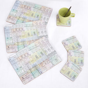 City Abstract Mats & Coasters 4pk