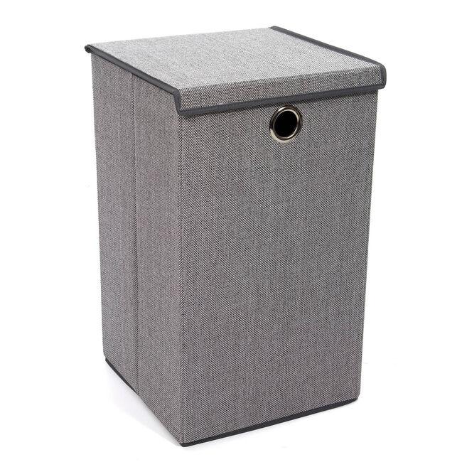 Tweed Light Grey Foldable Laundry Hamper