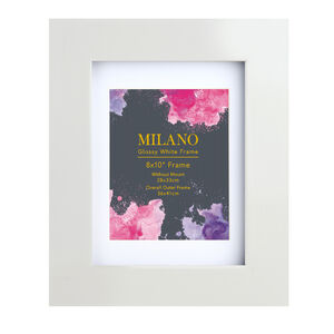 Milano Glossy White Photo Frame 8X10""