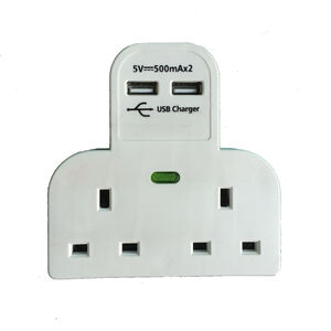 2 Way Multi Socket Surge Protector