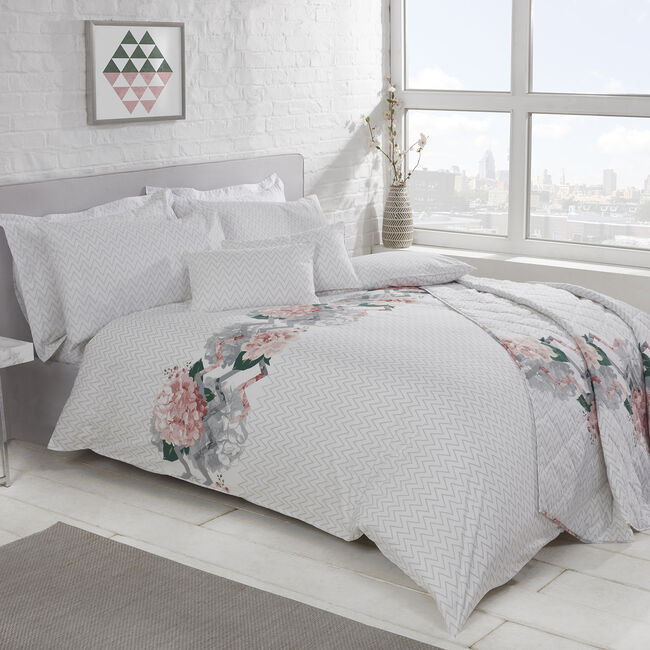 SINGLE DUVET COVER Hydrangea Zig