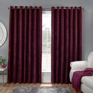 BLACKOUT & THERMAL H/BONE MULBERRY 66x72 Curtain