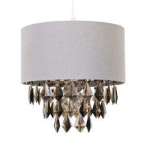 Grey Shade with Droplet Pendants