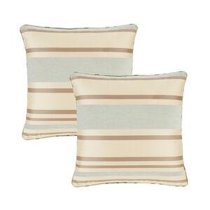 Chenille Stripe Duck Egg Cushion Covers 2Pk