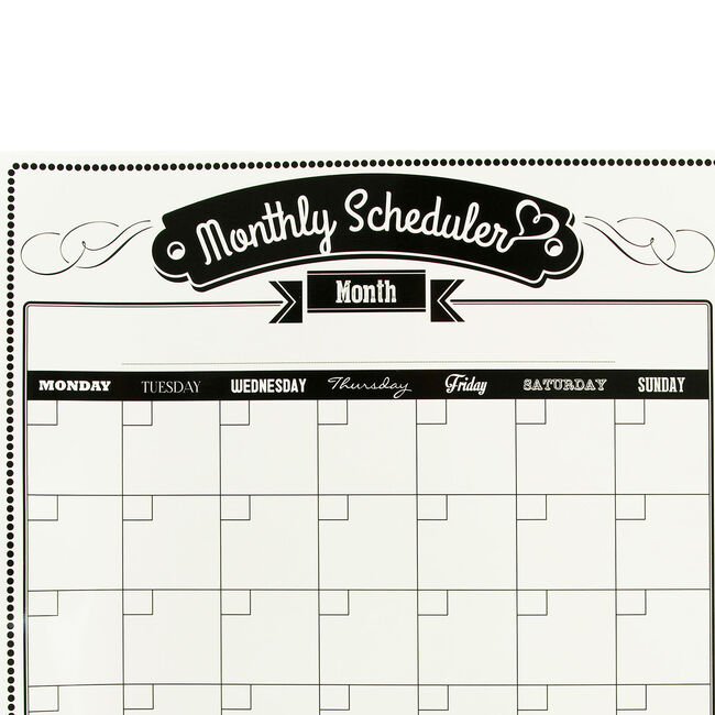 Magnetic Monthly Schedule