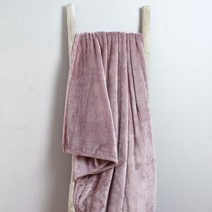 Ruane Plush Velvet Throw Blush