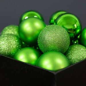 Green Bauble Set - 20 Pack