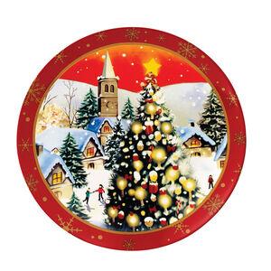 Love Christmas  Village Large Plate