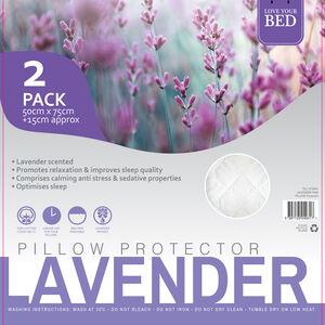 Lavender Pillow Protector Pair